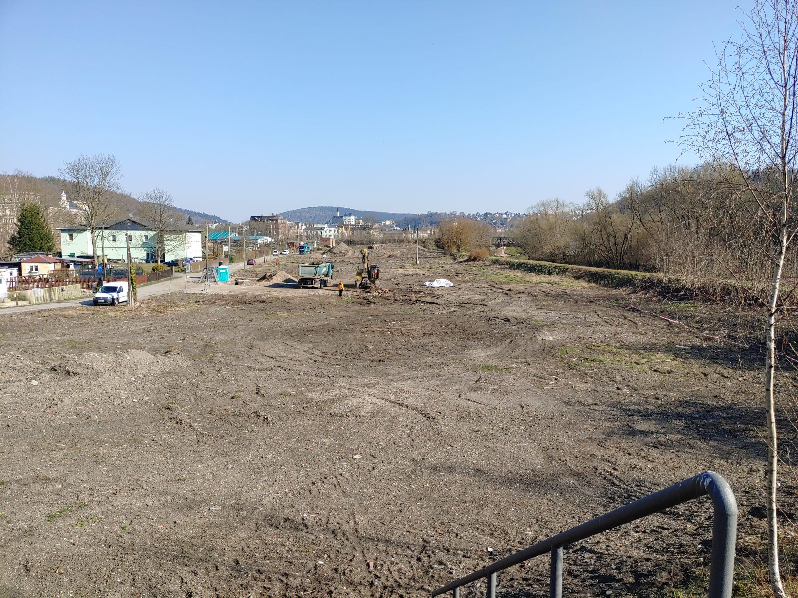 Abbruch der Kleingartenanlage in Greiz